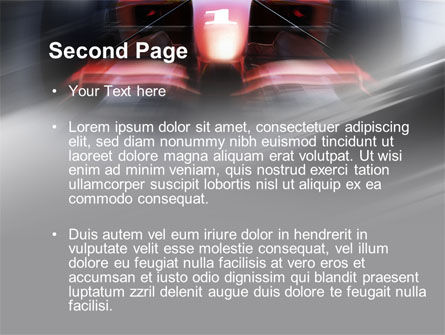 Formula One Bolide Racing PowerPoint Template Slide 2
