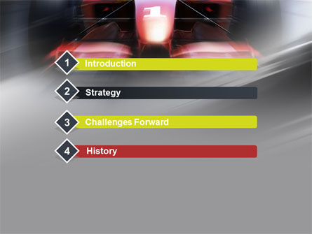 Formula One Bolide Racing PowerPoint Template Slide 3