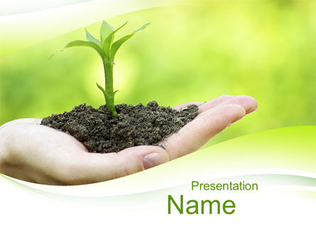 Plant Growth PowerPoint Template, 10014, Business Concepts — PoweredTemplate.com