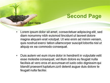 Plant Growth PowerPoint Template, Slide 2, 10014, Business Concepts — PoweredTemplate.com