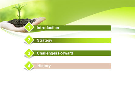 Plant Growth PowerPoint Template, Slide 3, 10014, Business Concepts — PoweredTemplate.com