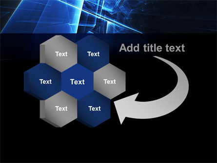 Blue Cubes In Abstract Hole PowerPoint Template Slide 11