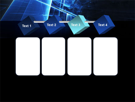 Blue Cubes In Abstract Hole PowerPoint Template Slide 18
