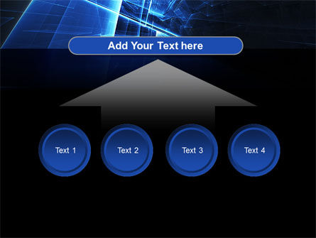 Blue Cubes In Abstract Hole PowerPoint Template Slide 8