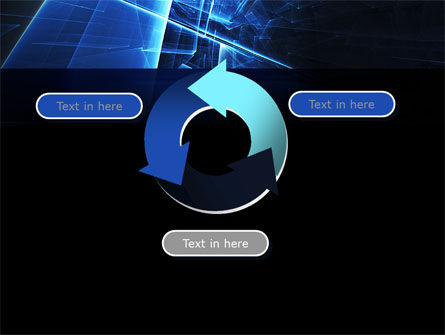 Blue Cubes In Abstract Hole PowerPoint Template Slide 9
