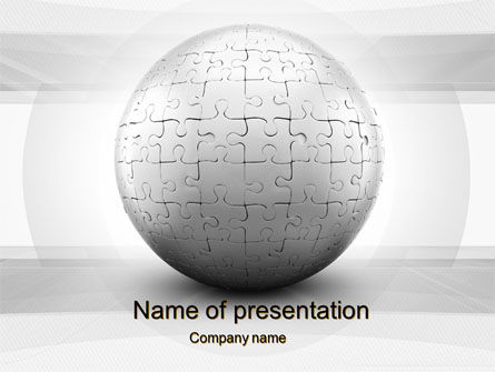 Business Concepts: Puzzle In Sphere PowerPoint Template #10016