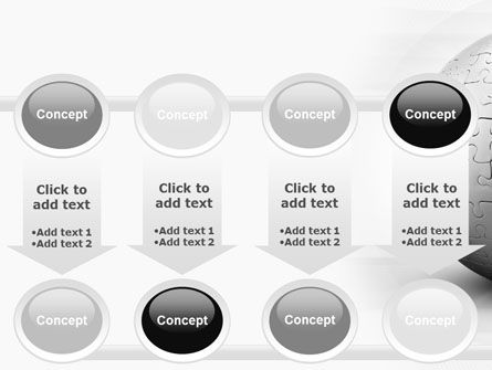 Puzzle In Sphere PowerPoint Template Slide 18