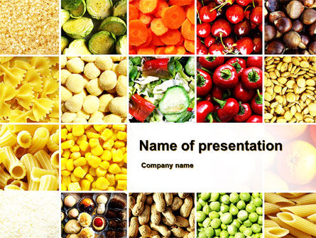 Vegetarian Foods PowerPoint Template