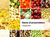 Agriculture: Vegetarian Foods PowerPoint Template #10018