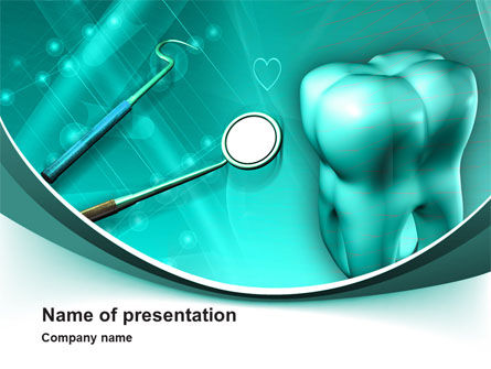 Medical: Tooth And Stomatology Instruments PowerPoint Template #10019
