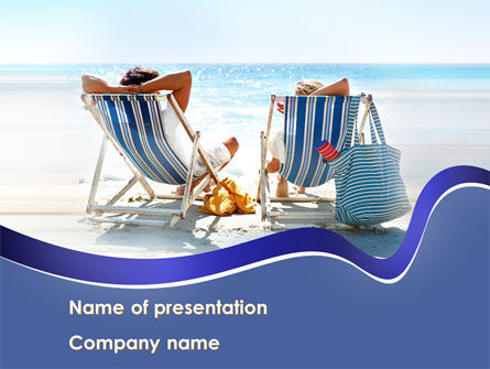Sunny Day On The Beach PowerPoint Template, 10021, Health and Recreation — PoweredTemplate.com
