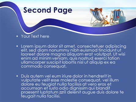 Sunny Day On The Beach PowerPoint Template, Slide 2, 10021, Health and Recreation — PoweredTemplate.com