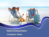 Health and Recreation: Sunny Day On The Beach PowerPoint Template #10021