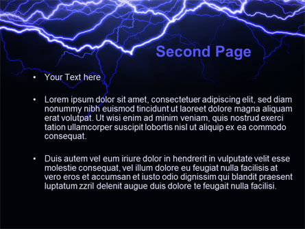 Lightning in the night sky powerpoint template backgrounds lightning in the night sky powerpoint template slide 2 10024 abstracttextures toneelgroepblik Gallery