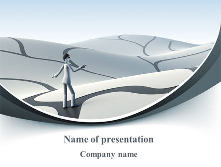 Consulting: Virtual Desert PowerPoint Template #10025