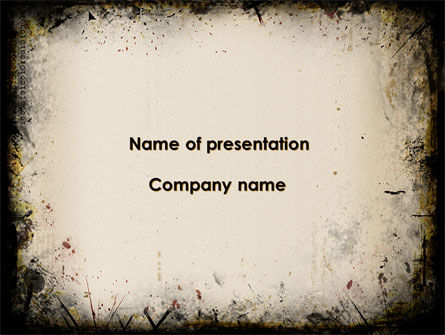 Abstract/Textures: Gray Frame PowerPoint Template #10026
