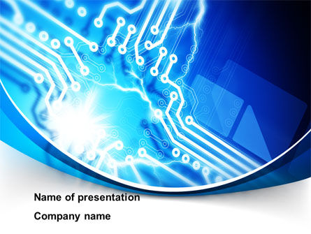 Technology and Science: PC Board PowerPoint Template #10027