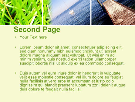 Summer Beach River PowerPoint Template, Slide 2, 10028, Nature & Environment — PoweredTemplate.com