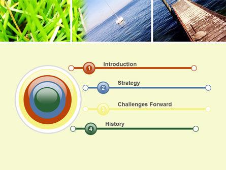 Summer Beach River PowerPoint Template, Slide 3, 10028, Nature & Environment — PoweredTemplate.com