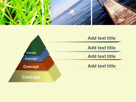Summer Beach River PowerPoint Template, Slide 4, 10028, Nature & Environment — PoweredTemplate.com