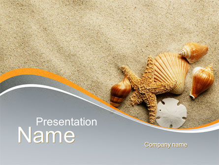 Shells And Starfish PowerPoint Template, 10030, Health and Recreation — PoweredTemplate.com