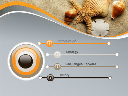 Shells And Starfish PowerPoint Template, Slide 3, 10030, Health and Recreation — PoweredTemplate.com