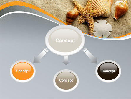 Shells And Starfish PowerPoint Template, Slide 4, 10030, Health and Recreation — PoweredTemplate.com