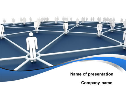 People In Connections PowerPoint Template, 10031, Business Concepts — PoweredTemplate.com