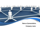 Business Concepts: People In Connections PowerPoint Template #10031