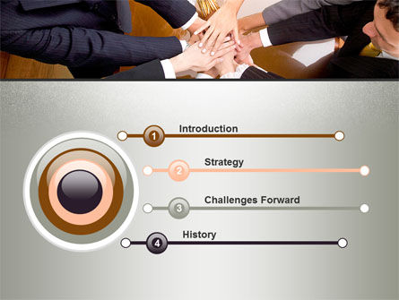 Working Collaboration in the Team PowerPoint Template, Slide 3, 10032, Business Concepts — PoweredTemplate.com