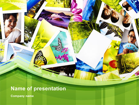 Flags/International: Summer Photo Collection PowerPoint Template #10034