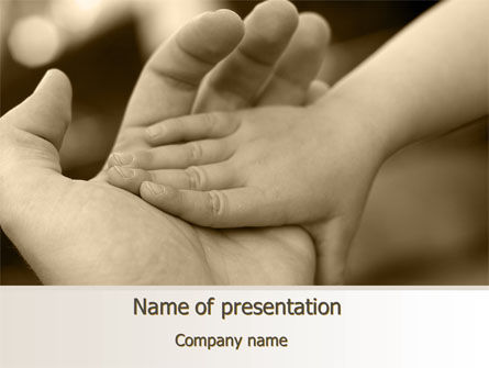 Baby's Hand PowerPoint Template, 10036, Religious/Spiritual — PoweredTemplate.com