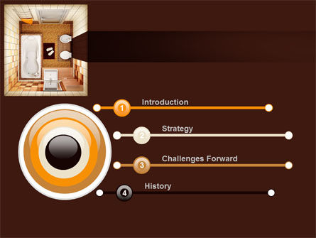 Plan Of Bathroom PowerPoint Template Slide 3