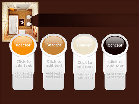 Plan Of Bathroom PowerPoint Template Slide 5