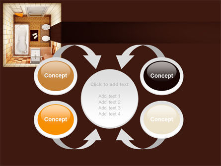 Plan Of Bathroom PowerPoint Template Slide 6