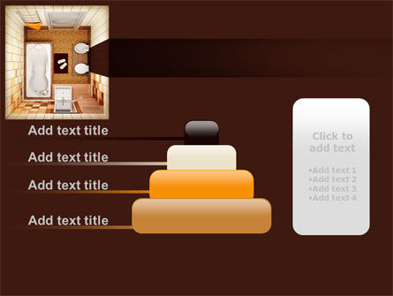 Plan Of Bathroom PowerPoint Template Slide 8