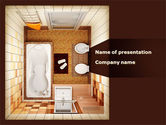 Construction: Plan Of Bathroom PowerPoint Template #10038