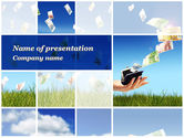 Financial/Accounting: Spending Money PowerPoint Template #10043