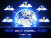 Technology and Science: Cloud Computing PowerPoint Template #10045