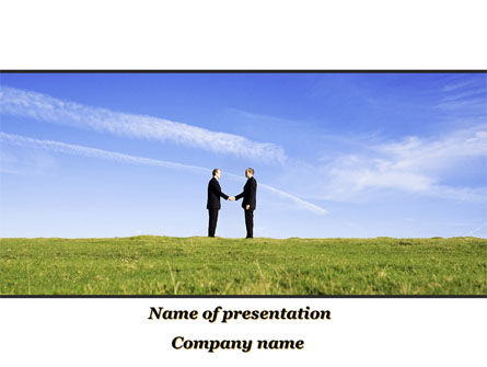 Business: Face to Face Business Meeting PowerPoint Template #10046
