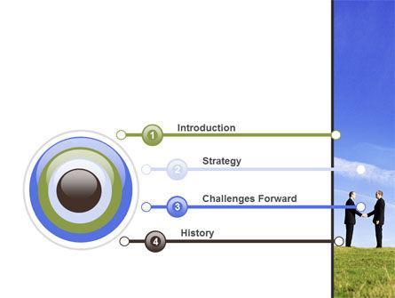 Face to Face Business Meeting PowerPoint Template, Slide 3, 10046, Business — PoweredTemplate.com