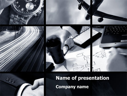 Business Activity Collage PowerPoint Template, 10047, Business — PoweredTemplate.com