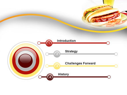 Yummy Hot-Dog PowerPoint Template, Slide 3, 10049, Food & Beverage — PoweredTemplate.com