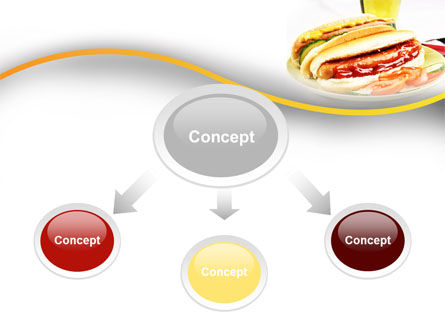 Yummy Hot-Dog PowerPoint Template, Slide 4, 10049, Food & Beverage — PoweredTemplate.com