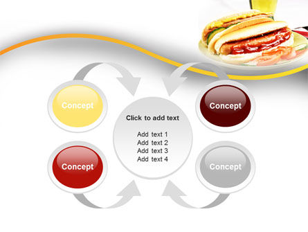 Yummy Hot-Dog PowerPoint Template Slide 6