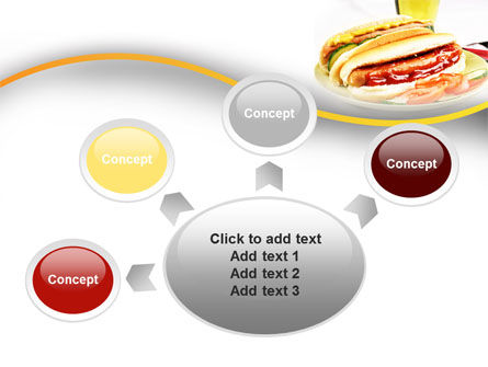 Yummy Hot-Dog PowerPoint Template Slide 7