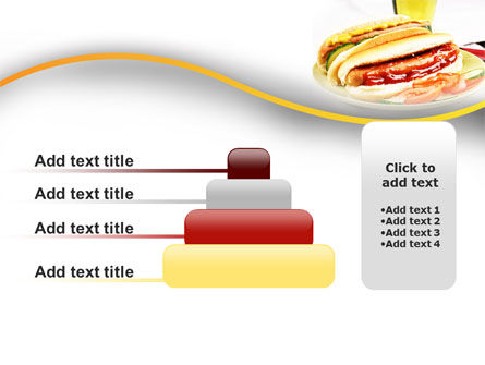 Yummy Hot-Dog PowerPoint Template Slide 8
