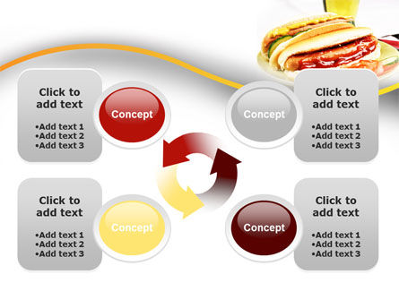 Yummy Hot-Dog PowerPoint Template Slide 9