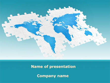 Wide World Jigsaw PowerPoint Template, 10054, Global — PoweredTemplate.com