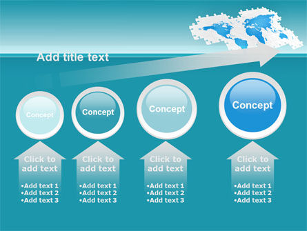 Wide World Jigsaw PowerPoint Template Slide 13